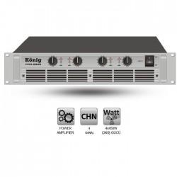 König - PRO-2808/S Dört Kanal Power Amplifier