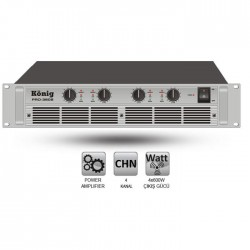 König - PRO-3608/S Dört Kanal Power Amplifier