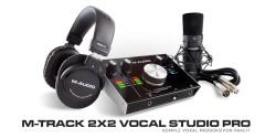 M-Audio - M-Track 2x2 Vocal Studio Pro Yeni sürüm zengin içerikli başlangıç paketi