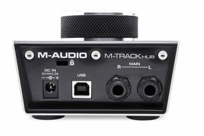 M-Track HUB 2- Çıkış, 3 USB HUB'lı monitor kontroller