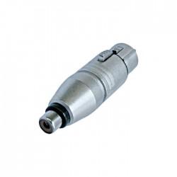 Neutrik - NA2FPMF Dişi XLR Konnektör ü RCA Konnektör e Çeviren Jak Dönüştürücü