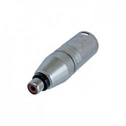 Neutrik - NA2MPMF Erkek XLR Konnektör ü RCA Konnektör e Çeviren Jak Dönüştürücü