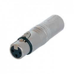 Neutrik - NA3F5M Dişi XLR Konnektör ü Erkek XLR Konnektör e Çeviren Jak Dönüştürücü
