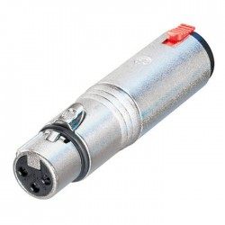 Neutrik - NA3FJ Dişi XLR Konnektör ü Çivi Stereo Jak a Çeviren Jak Dönüştürücü