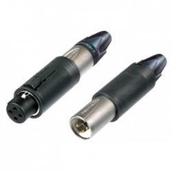Neutrik - NC3FM-C Compact Unisex Kablo Tipi Erkek Dişi XLR Konnektör