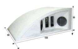 Notel - Not SC252D 1400 Watt Dörtlü Polyester Fiber Kabin Hoparlör (Dolu)