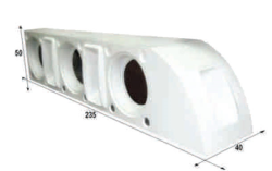 Notel - Not SC3038 32D 2200 Watt Üçlü Polyester Fiber Kabin Hoparlör (Dolu)