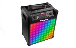 Numark - Sing Master Aktif LED ışıklı, 2 mikrofonlu Karaoke sistemi