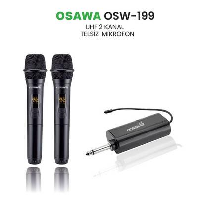 Osw-199 Şarjlı Telsiz Kablosuz Çift EL Mikrofon
