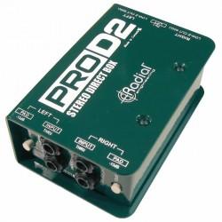 Radial Engineering - ProD2 Full range, stereo, Pasif DI Box