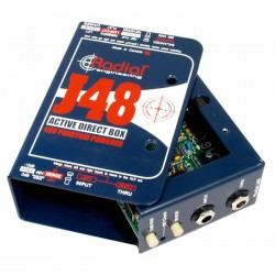 J48 Aktif DI Box, 48V Phantom Güç - Thumbnail