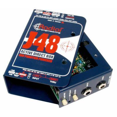 J48 Aktif DI Box, 48V Phantom Güç
