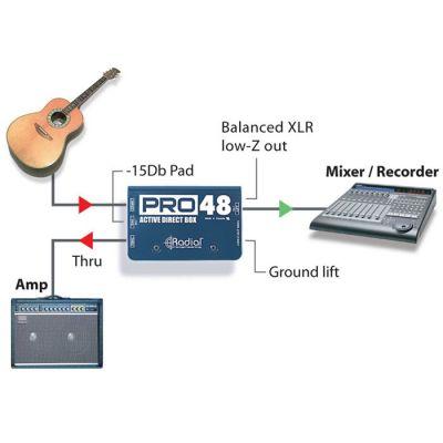 Pro48 Yüksek Çözünürlüklü Aktif DI Box