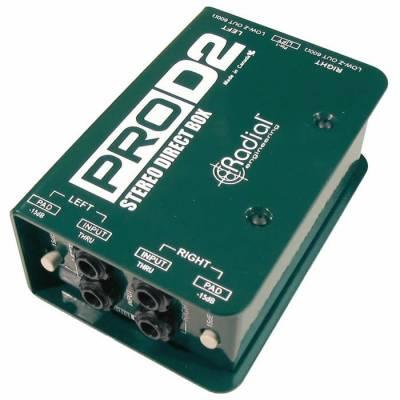 ProD2 Full range, stereo, Pasif DI Box