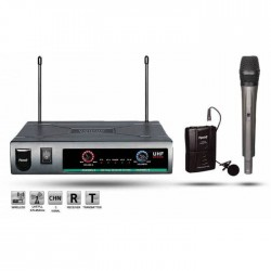 Roof - R-720 (1 El+1 Yaka) Wireless Mikrofon