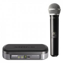 Shure - PG24E/PG58 Dahili Vericili PG58 El Tipi Telsiz Mikrofon Seti