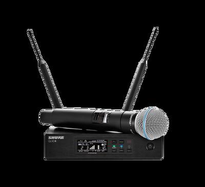 QLXD24E/B58 El Tipi Kapsül Telsiz Mikrofon Seti