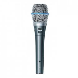Shure - BETA 87A Süperkardioid Condenser El Tipi Vokal Mikrofon