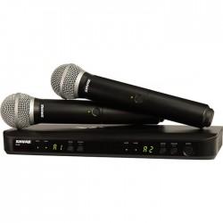 Shure - BLX288E/PG58 Kablosuz PG58 El Mikrofonu Sistemi