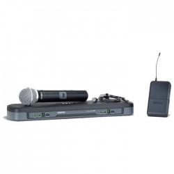 Shure - PG1288E/PG185 Kablosuz İkili Yaka ve El Telsiz Mikrofon Seti
