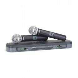 Shure - PG288E/PG58 İkili PG58 El Telsiz Mikrofon Seti