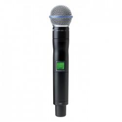 Shure - UR2/BETA58 Dahili Vericili BETA 58A El Tipi Telsiz Mikrofon