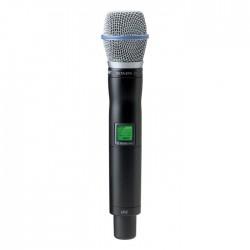 Shure - UR2/BETA87A Dahili Vericili BETA 87A El Tipi Telsiz Mikrofon