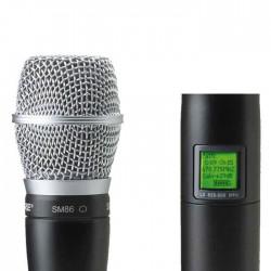 Shure - UR2/SM86 Dahili Vericili SM86 El Tipi Telsiz Mikrofon