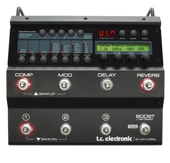 G-Natural Gitar için kalteli efekt işlemci (Tuner - Mikrofon - Preamp)