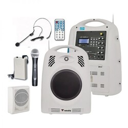 Westa - WAP-679 130W Portatif Seyyar Ses Sistemi - El + Yaka