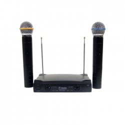 Westa - WM-323 E Çift El Telsiz Mikrofon VHF