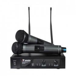 Westa - WM-442 E Çift El Telsiz Mikrofon UHF