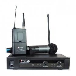 Westa - WM-442 ET 1 El 1 Yaka Telsiz Mikrofon UHF