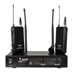 Westa - WM-442T UHF Band Kablosuz Çift Yaka Mikrofon Seti