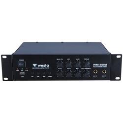Westa - WM-500U 2 Mic Girişli 100W 8 ohm 100V Mikser Anfi